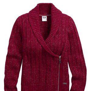 Harley Davidson Women's Maroon Side Zip Sweater